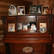 Meaningful history displayed on antique piano