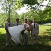 Help from the groomsmen