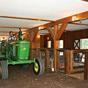 JD Tractor and lower level main event barn