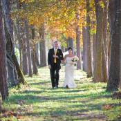 The wedding path to the ceremony site