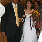 Dad and bride-Dairy Barn ceremony