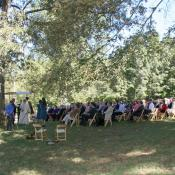 The chuppah and guests