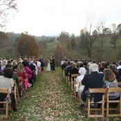 A pretty late fall ceremony