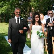 Happy dad with bride